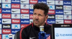 Simeone mandó un 'recadito' a la UEFA. EFE