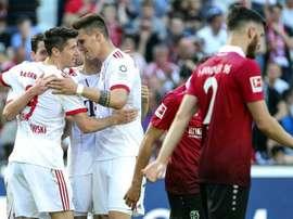 El Bayern ganó con suficiencia. EFE