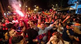 Los aficionados del Barça, en entredicho. EFE
