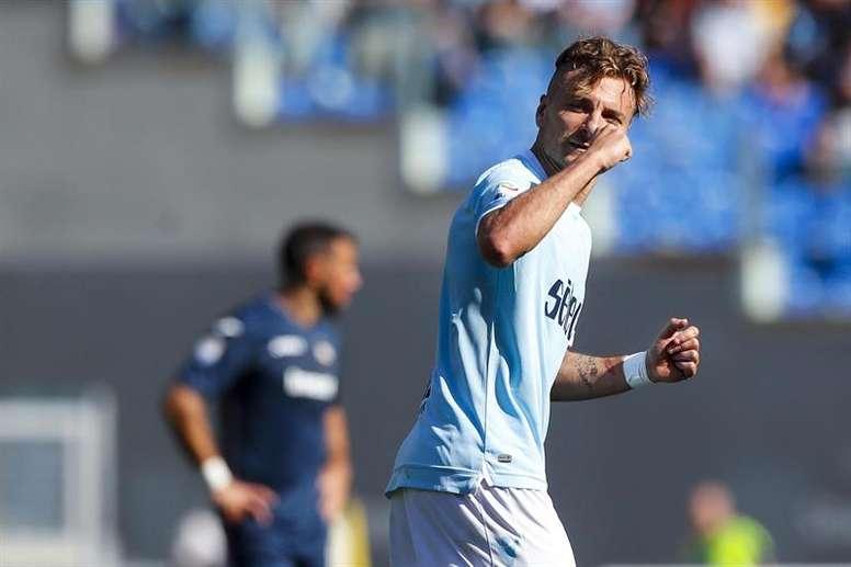 La Lazio sueña con la recuperación de su delantero. EFE