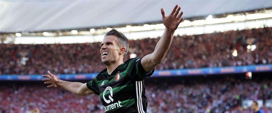 Van Persie volvió a ser clave en la victoria del Feyenoord. EFE/EPA