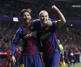Iniesta n'a pas tari d'éloges sur Leo Messi. EFE