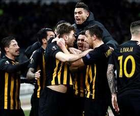 Al AEK le valió el empate 1-1. EFE/Archivo
