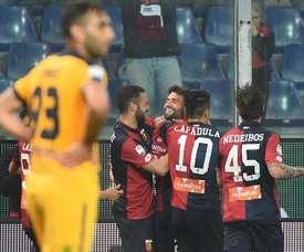 El Genoa metió en más problemas al Hellas Verona. EFE