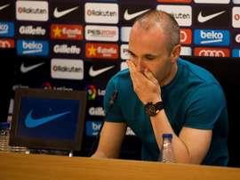 Iniesta dejará el Barça al término de la presente campaña. EFE