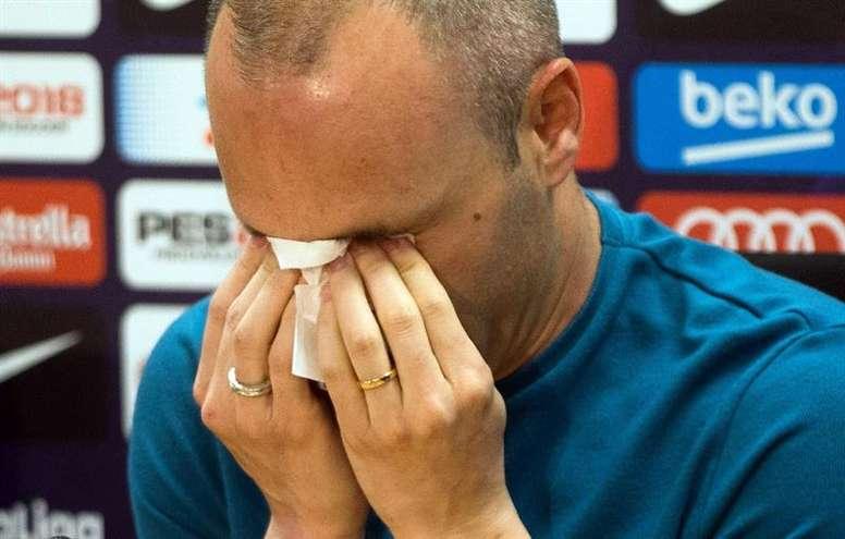 Iniesta dejará el Barcelona tras esta temporada. EFE