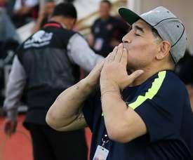 Maradona no consiguió el ascenso directo con el Al-Fujairah. EFE/Archivo