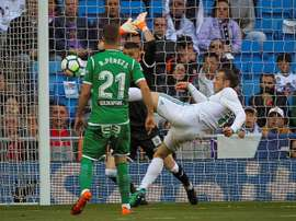 Bale opened the scoring after just eight minutes. EFE