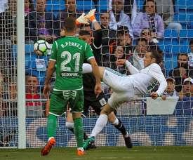 Bale buteur face à Leganés. EFE