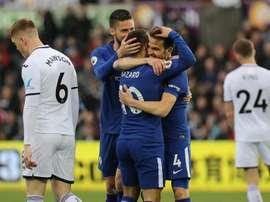 O Chelsea venceu o Swansea por 0-1. EFE/EPA