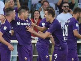 La Fiorentina se llevó la victoria en la Opel Cup 2018. EFE/EPA