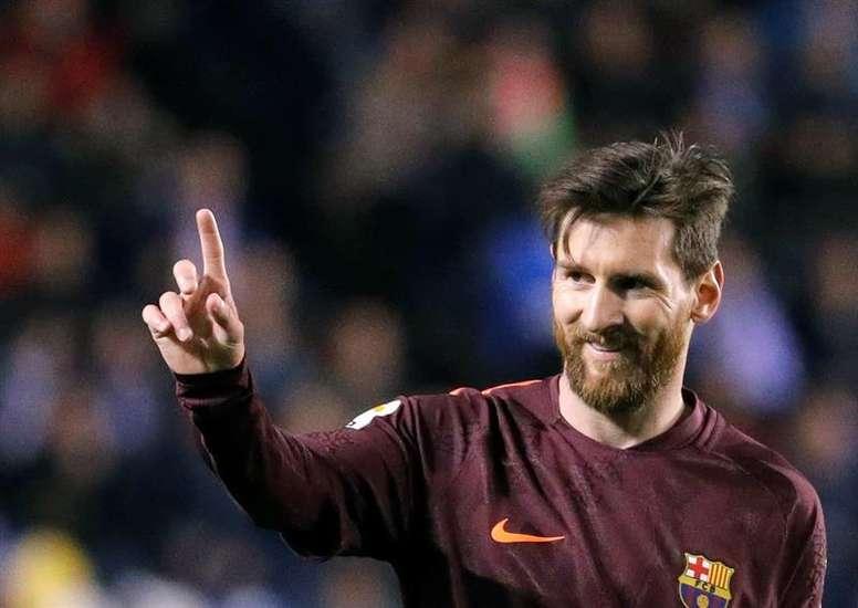 Messi pode ser campeão invicto pelo Barcelona. EFE/Lavandeira jr