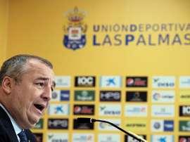 El presidente de Las Palmas confía en Jiménez. EFE