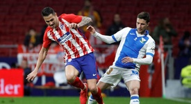 El jugador del Leganés sigue con su proceso de recuperación. EFE
