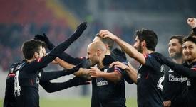 Mikel Rico dijo adiós al Athletic. EFE