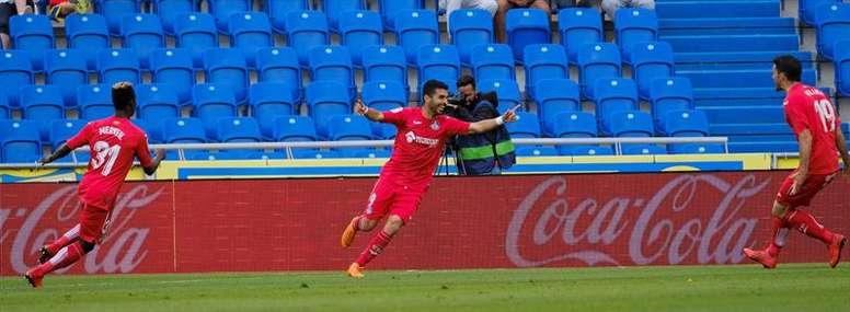 El Getafe ha vencido a Las Palmas con un tanto agónico de Ángel. EFE