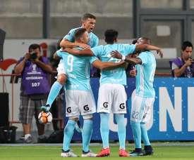 Sporting Cristal empató a uno ante Sport Huancayo. EFE/Archivo