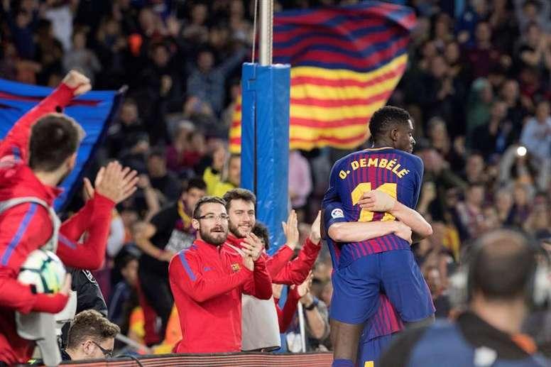 Barça vence Mamelodi em clima de festa.