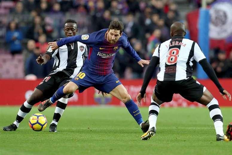 Barça visita o Levante hoje. EFE