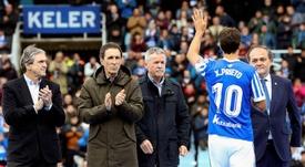 Xabi Prieto, un 'one club man' que se va por todo lo alto. EFE