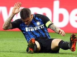 Inter cada vez mais longe da Champions. EFE