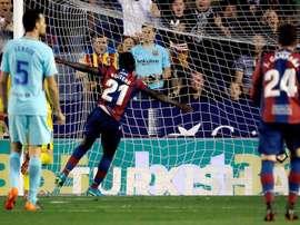 El Barça viajará primero al Ciutat de Valencia. EFE/Archivo