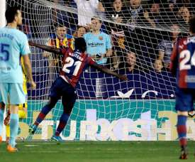 Boateng celebrates his second. EFE