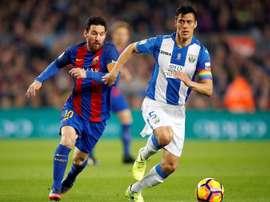 Barça won 3-0 in Leganés last season. EFE/Archivo