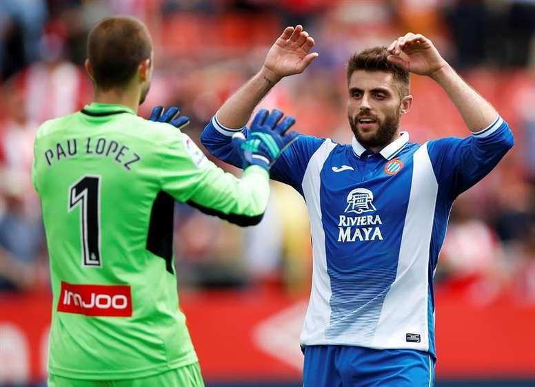 David López podría salir del Espanyol. EFE/Archivo
