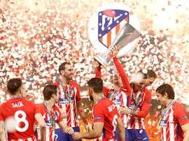 El Atlético ganó la Europa League al Olympique de Marsella en Lyon. EFE