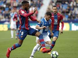 El jugador del Levante disputó dos partidos internacionales. EFE