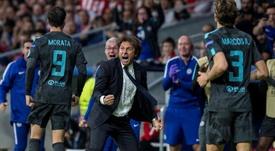 Morata vio a Conte en el Madrid. EFE/Archivo