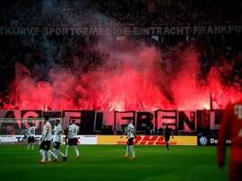 Frankfurt saw off Bayern by three goals to one. AFP