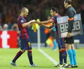 Le compliment de Mascherano à Xavi et Iniesta. EFE
