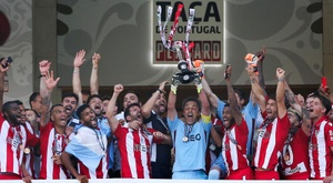 El Desportivo Aves ganó la última 'Taça' frente al Sporting de Portugal. EFE