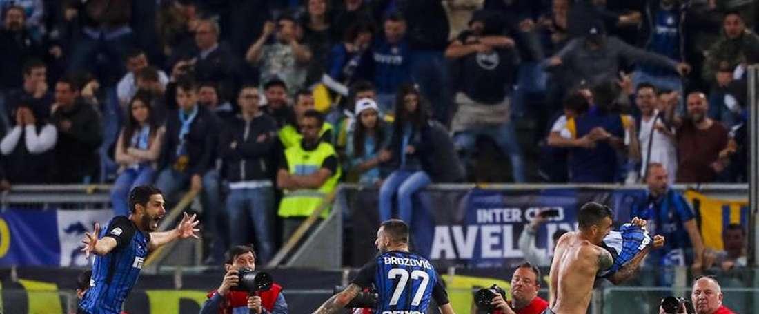 Inter venceu pela margem mínima a Roma. EFE