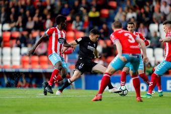 La SD Huesca venció por 0-2 al Lugo en su visita al Anxo Carro en 2018. EFE