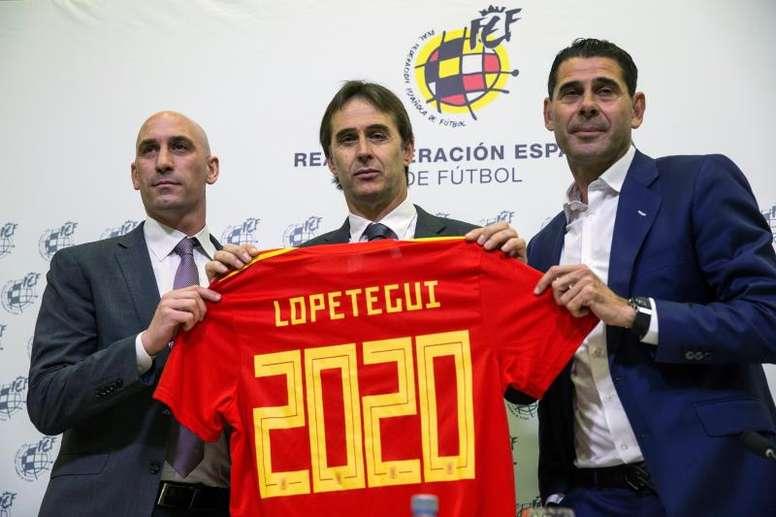 Se especula con que Rubiales y Lopetegui no comparecerán juntos. EFE