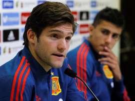 Marcos Alonso affirme que Lopetegui ne l'a pas appelé pour lui faire part de sa décision. EFE