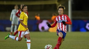 Amanda Sampedro had an effort well saved in the game. EFE/Archivo