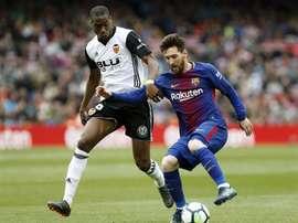 Kondogbia se lesionó en el duelo de la Jornada 2 ante el Espanyol. EFE/Archivo