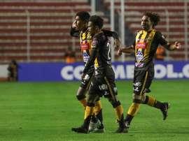 The Strongest se impuso por 4-2 a San José Oruro. EFE