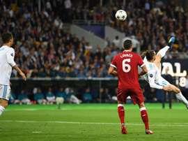 Le retourné de Bale parmi la liste des buts en lice pour être élu meilleur de l'année. EFE