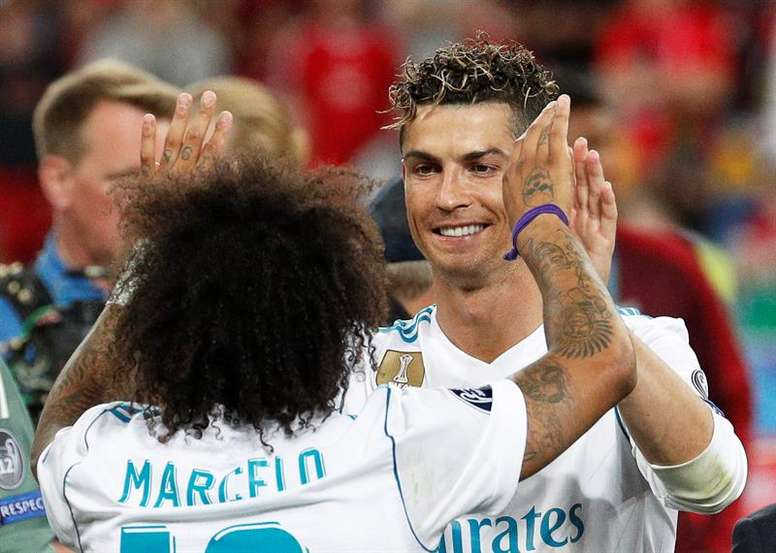Marcelo e Cristiano Ronaldo. EFE/EPA