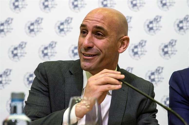 Rubiales anunció la destitución de Lopetegui. EFE/Archivo