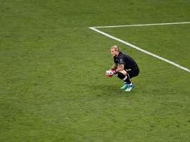 Loris Karius tendrá difícil seguir en el Liverpool tras su desastrosa final. EFE/EPA