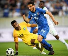 Florenzi s'est blessé avec l'Italie. EFE