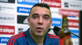 Iago Aspas comentou a ausência de Morata. EFE