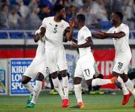 Ghana igualó un 2-0 en contra en el primer tiempo. EFE