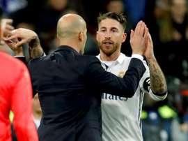 Zidane aprova que Ramos vá aos Jogos Olímpicos. EFE/Archivo